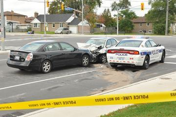 October crash at Tomken and Burnhamthorpe