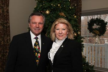 Newmarket-Aurora MPP Frank Klees and MP Lois Brown welcomed constituents at their yuletide gathering.