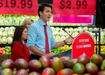 Federal Liberal leader Justin Trudeau makes an announcement in Markham, Ontario on Wednesday October 9, 2019. THE CANADIAN PRESS/Frank Gunn