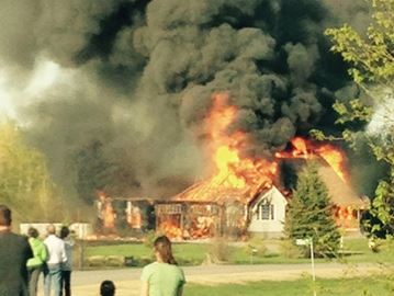 House fire near North Gower