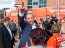 Mulcair-Trudeau awkward minority dancers-Image1