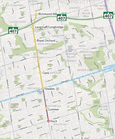 Proposed Yonge North Subway to Richmond Hill