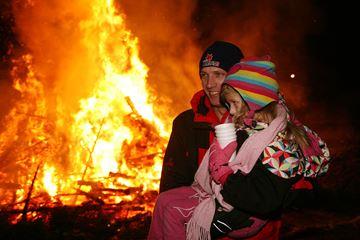 Bonfire blaze