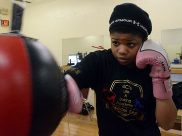 Local boxer Deedra Chestnut trains at her father's gym 4C's Life and Boxing Academy. Curently Chestnut is getting ready for the provincial championships in May.