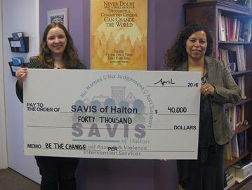 Canadian Women's Foundation donates $40K to SAVIS Halton