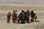 Iraqis flee their homes