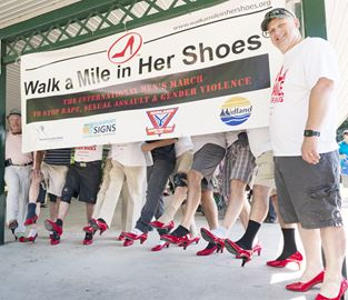 Walk A Mile march in Midland