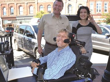 Collingwood man with cerebral palsy gets first job with accessible shuttle/cab company