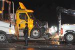 401 transport truck crash