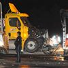 Transport truck crash Hwy. 401