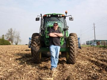 Don Rickard at Ceresmore Farms