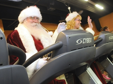 Workout Santa Claus