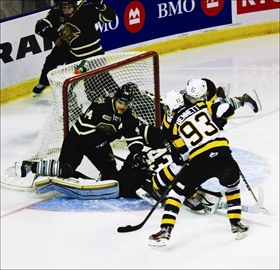 The Kingston Frontenacs put forth a spirited effort at the Rogers K-Rock Centre on the evening of Nov. 15, but dropped a 4-2 decision to the London Knights. The momentum that started on the Friday evening continued for the local lads resulting in an 8-0 home win for the Frontenacs over the Ottawa '67s on Sunday afternoon.
