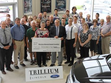 Trillium Ford makes $50K pledge to Alliston hospital foundation