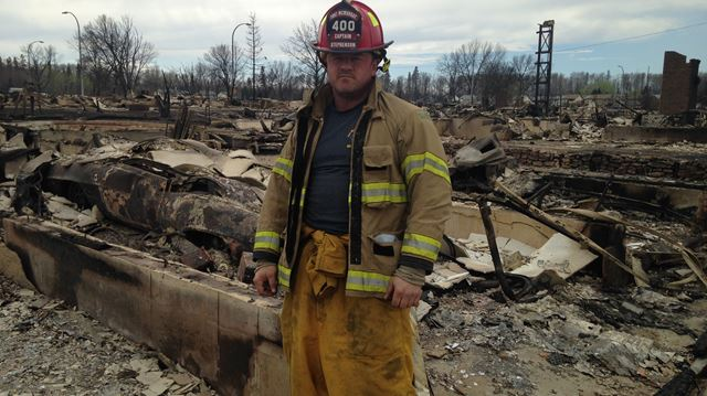 Fire fighter in Fort McMurray