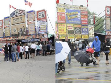 Thousands brave torrential downpours and head to Oakville's Ribfest