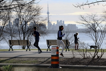 Among other activities, Ontarians can still venture outside for exercise during the province's new stay-at-home order, which took effect on Thursday, April 8.