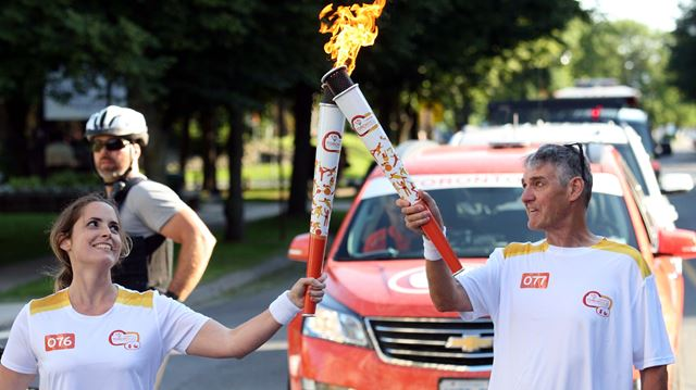 Pan Am torch in Kingston