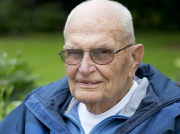 Richard Chambres gets set to celebrate his 100th birthday