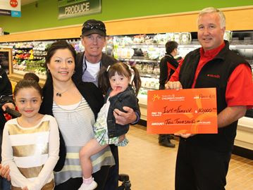 Meaford family receives $10,000 from PC Children's Charity