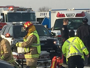 Oakville accident sends two to hospital