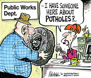Steve Nease on potholes