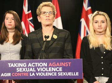 Wynne at press conference