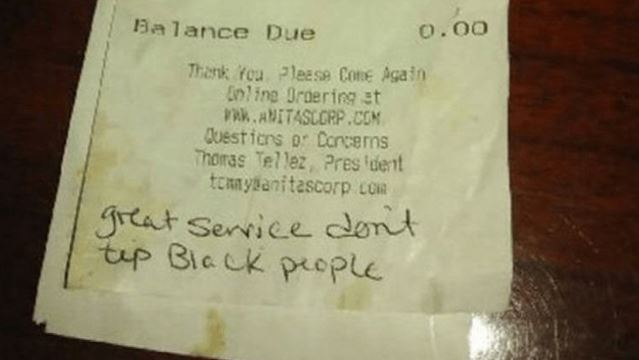 news local waitress undeterred racist note left bill ashburn restaurant