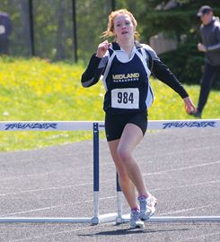 Athletes braved chilly weather conditions Monday at the North Simcoe Track and Field Championships, held at St. Theresa's High School in Midland. The host Thunder finished second in the overall team standings.