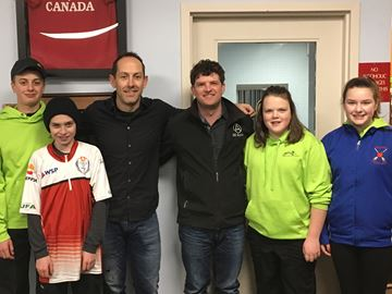 World champion curler tutors Meaford players