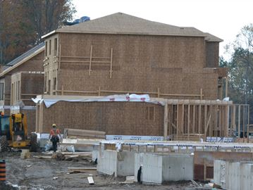 Barrie townhouse construction