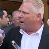 Heated moment as Doug Ford initially denied entry to debate