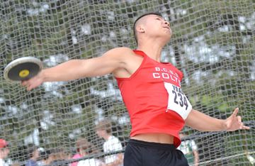 Bill Crothers Secondary School's Russell Ho placed sixth in the senior boys discus throw with a toss of 34.26 metres during the York Region track and field finals at York University May 23.