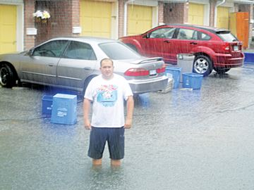 Heavy rainfall means flooding for Midland co-op residents