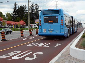 Bus-only lanes open in Markham