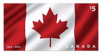 Fabric stamp honours Canadian flag's 50th-Image1