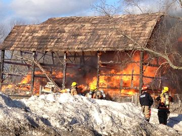 Solina barn fire