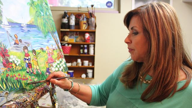 Artist bring happy childhoods to life; Professional artist's works aga– Image 1