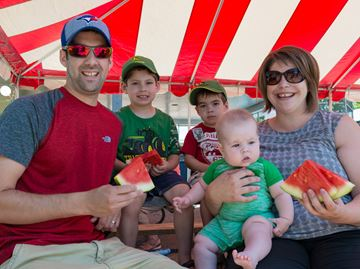 Tiny Township residents enjoy community barbecue