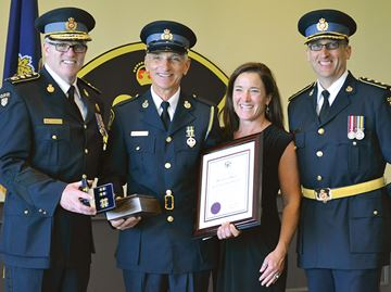 Southern Georgian Bay OPP officer honoured for 40 years of service