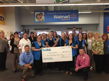 Barrie South Walmart gives to Sick Kids