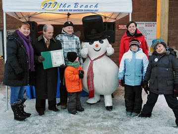 Snowman Mania took place in Wasaga Beach on Family Day weekend.