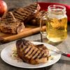 Apple cider pork chops with grilled fennell