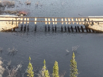 A portion of the Hudson Bay Railway to Churchill, Man., is shown in this 2017 handout photo. The federal government is threatening to sue the owner of the rail line that has left people in the northern Manitoba town of Churchill without a land connection to the outside world.