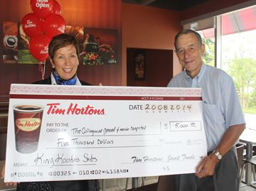 Tim Hortons donates King Kookie proceeds to hospital