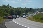 Crash on Highway 401 near Prescott