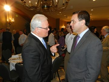Leader of the Official Opposition in Ontario, Tim Hudak was in London for a breakfast address sponsored by the London & District Chamber of Commerce Thursday (May 16).