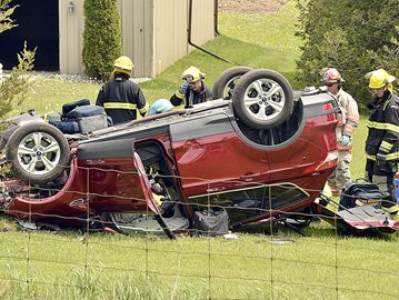 A man was airlifted to hospital following a crash in East Gwillimbury May 21.