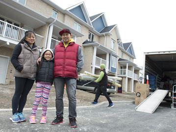 Family of three moves into its Habitat home