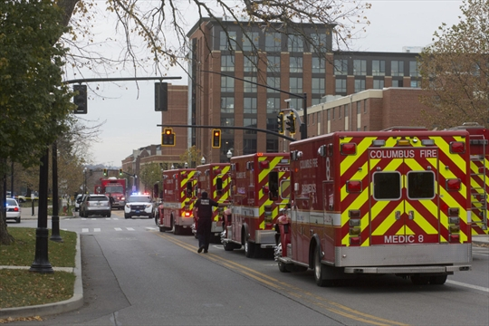 Terrorism suspected in car and knife attack at ohio state for Bureau of motor vehicles columbus ohio